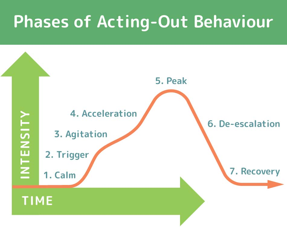 phases of acting-out behavior